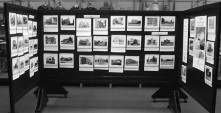 The exhibit included numerous images from Bedford's near downtown area. The public square images drew a lot of attention from museum goers.