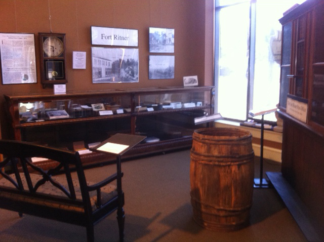 Many of the items in this temporary Holland store exhibit were made available through the museum's Savage and Holland collections.