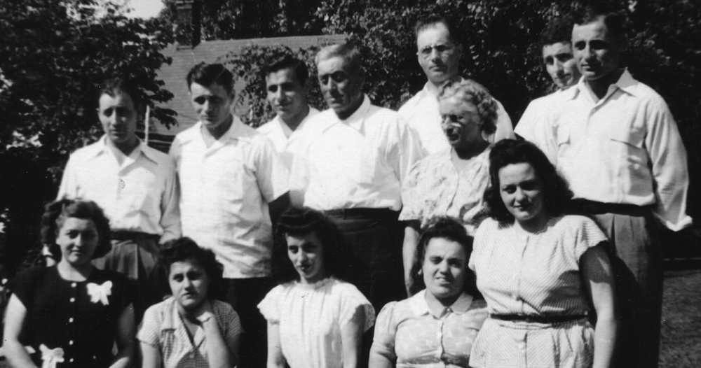 OOLITIC — Oolitic's Henry Delpha family included, front row, from left, Illene Delpha Wintergerst, Pauline Delpha Baker, Mabel Delpha, Mary Ellen Delpha, Marjorie Delpha Christenberry, second row, from left, Louis Delpha, John Delpha, family patriarch Henry Delpha, Henry's wife and family matriarch Mary Ann Bellata Delpha, Bob Delpha, and back row, from left, Bill Delpha, Jimmy Delpha and Harry Delpha.
