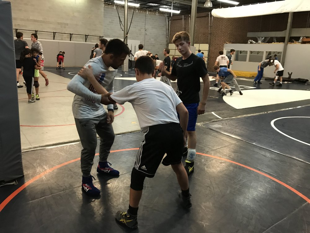 World Team Member and NCAA National Champion - TONY RAMOS - working with Darkhorse Wrestlers