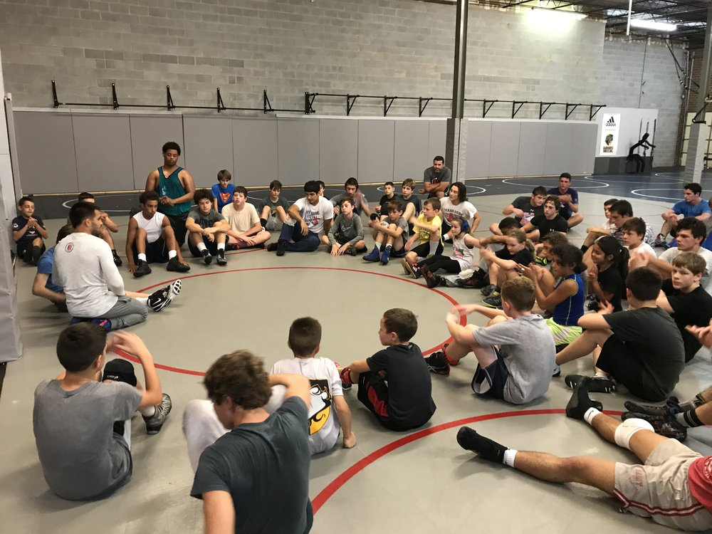 Tony Ramos teaching wrestling technique at the Sept 2017 Darkhorse Training Camp!