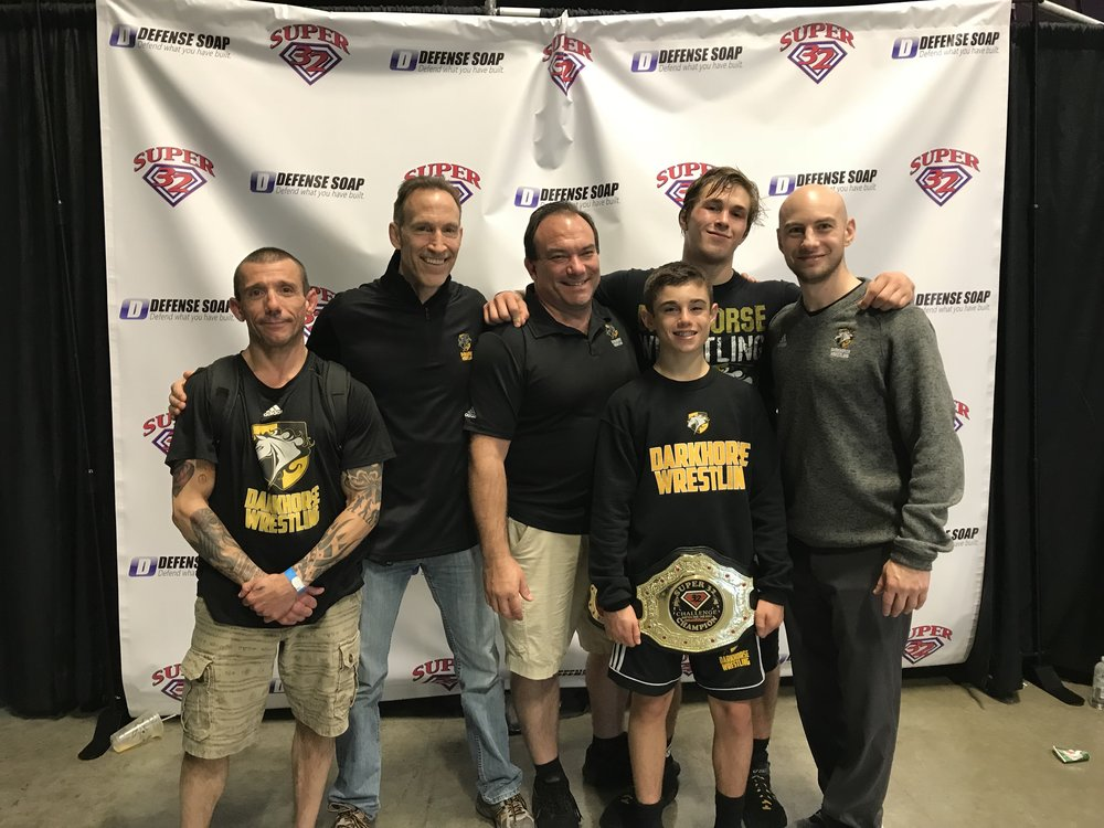 Congratulations to Tyrie Houghton and Kyle Montaperto for a great tournament in Greensboro, NC! Tyrie Houghton had the best finish for any Darkhorse High School wrestler and Kyle Montaperto was Darkhorse Wrestling's (and North Carolina's) first Middle School CHAMPION!