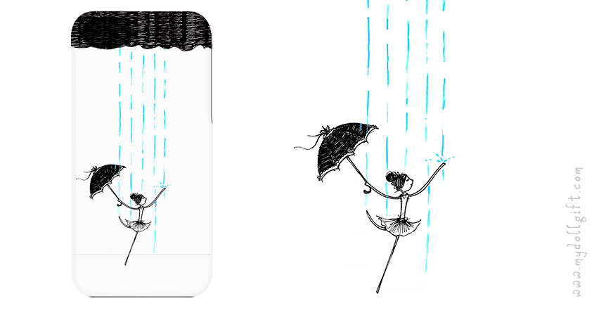 dancing in the rain-iphone casing