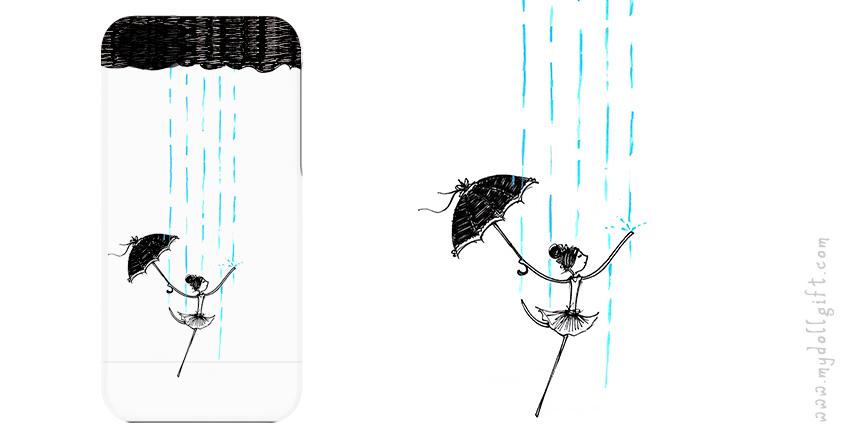 dancing in the rain-iphone casing