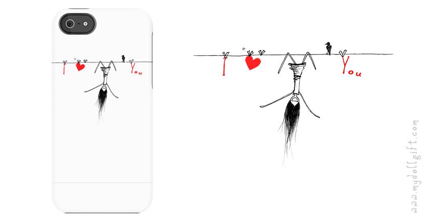 i heart u_iphone casing