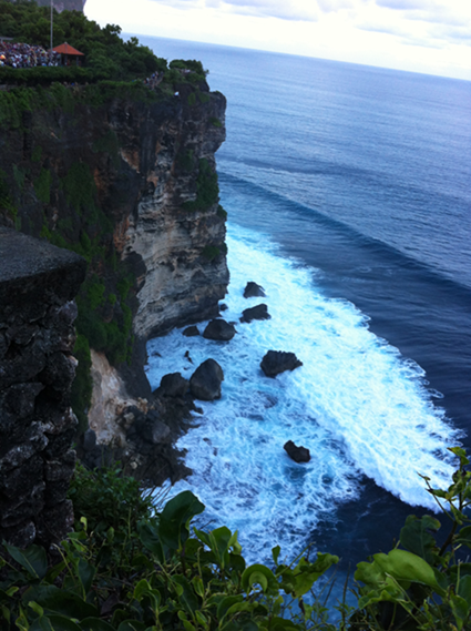 Breathtaking views at the Uluwatu Temple