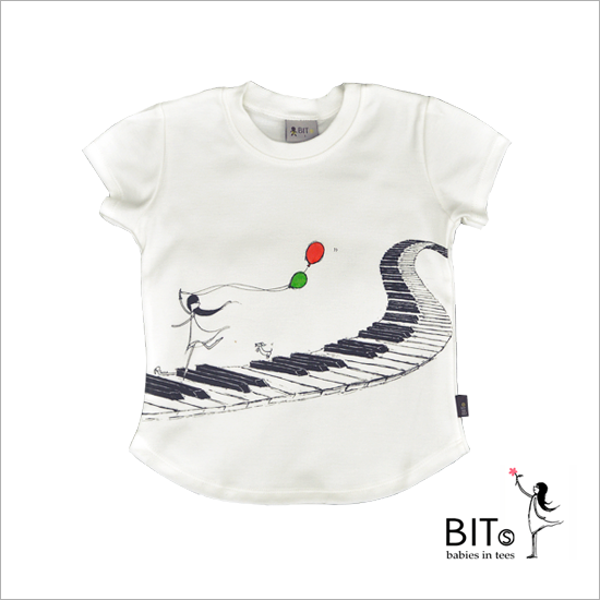 Music Delight - Organic Cotton Baby T-shirt *GIRL*