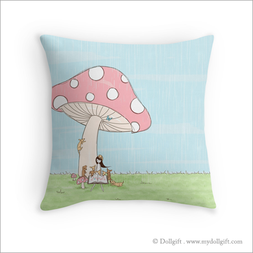 Under The Mushroom, pillow