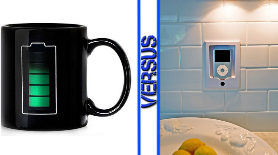 Coffee Thermometer Mug vs Ipod Wireless Speaker System