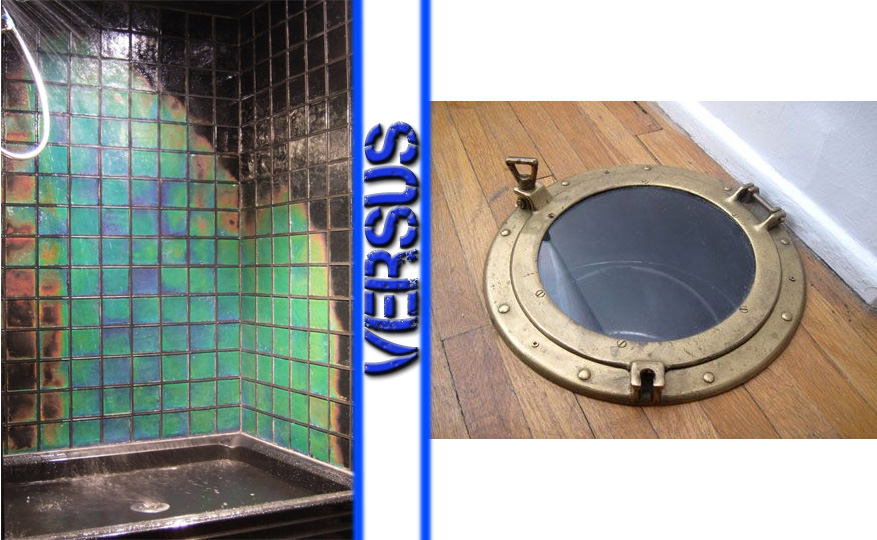 Temperature-Sensitive Glass Tile vs Porthole Laundry Chute