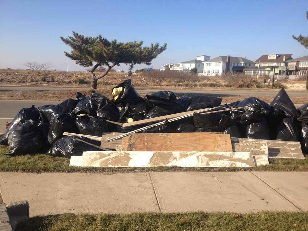 Removal of items damaged by Hurricane Sandy in Lavallette, NJ