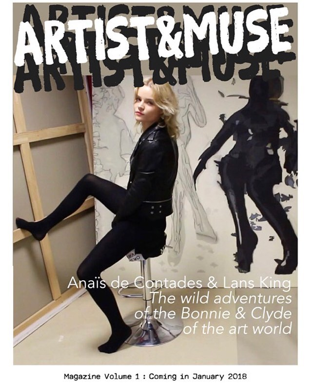COMING SOON!!! ARTIST&MUSE Magazine @artistandmuse 📕🥂🎨💋🎉💌🎈 📸@anaisdecontades by @lansking #BonnieandClydeOfTheArtWorld . . . . . . . . #anaisdecontades #FleurSucette #lansking #RomanticRebellion #contemporaryart #artistandmuse #muse #wmagazine #vogue #elle #harpersbazaar #vanityfair #esquire #dazedandconfused #anothermagazine #lofficiel #numeromagazine #tmagazine #katemoss #karllagerfeld #colette  #brigittebardot #jurgenteller #gillesbensimon #helmutnewton #peterlindbergh #theartgorgeous #artnet