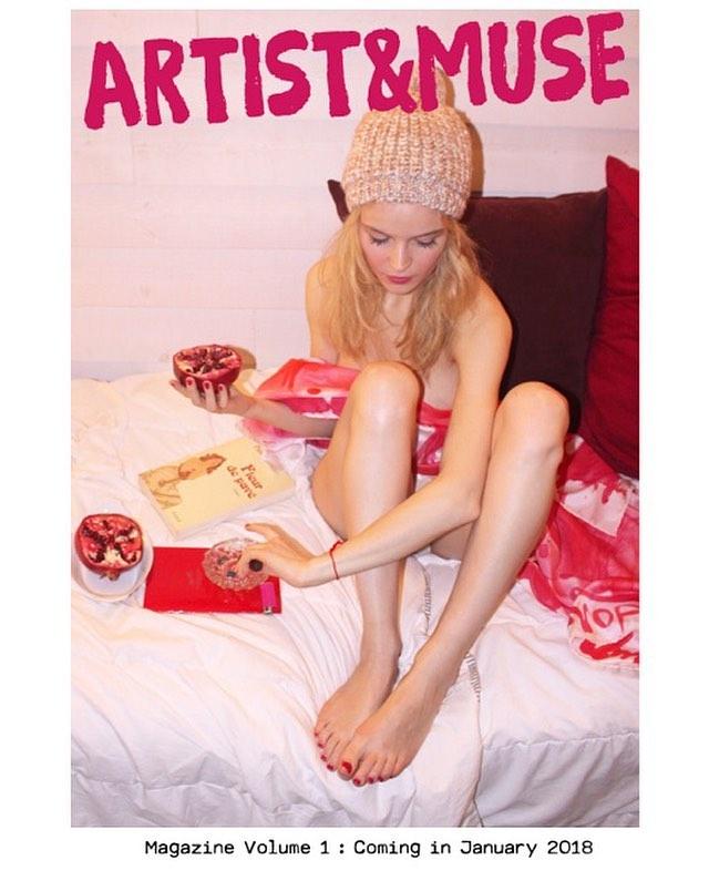 The pomegranate is a special symbol in @anaisdecontades' artwork 💋  COMING SOON!!! ARTIST&MUSE Magazine 📕🥂🎉💌🎈 📸@anaisdecontades by @lansking . . . . . . #anaisdecontades #FleurSucette #lansking #RomanticRebellion #contemporaryart #artistandmuse #artistandmusemagazine #wmagazine #vogue #elle #harpersbazaar #vanityfair #esquire #dazedandconfused #anothermagazine #lofficiel #numeromagazine #tmagazine #katemoss #karllagerfeld #colette  #jurgenteller  #helmutnewton #peterlindbergh #theartgorgeous #artnet #newvogue #artbaselmiami #contemporaryartcollector #artsy