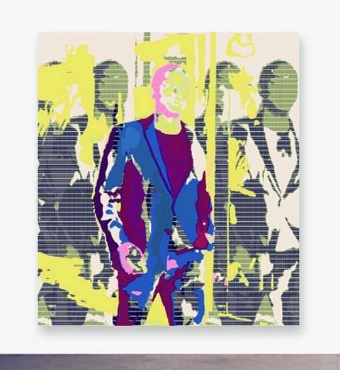 WORK IN PROGRESS by Lans King - study for a new series of self portraits. This painting combines algorithms and digital printing with manual painting and drawing. . . . . . - #lansking #RomanticRebellion #artistandmuse #artistandmusemagazine #TheNewSynthesis #artsiliconvalley #sadiecoles #gagosian #whitecube #artbasel #frieze  #friezemagazine #davidzwirner #anothermagazine #dazedandconfused #moma #sfmoma #tatemodern #idmagazine #artforum #contemporaryart #contemporarypainting #contemporaryartist #contemporaryartcollector #artagent #artadvisor