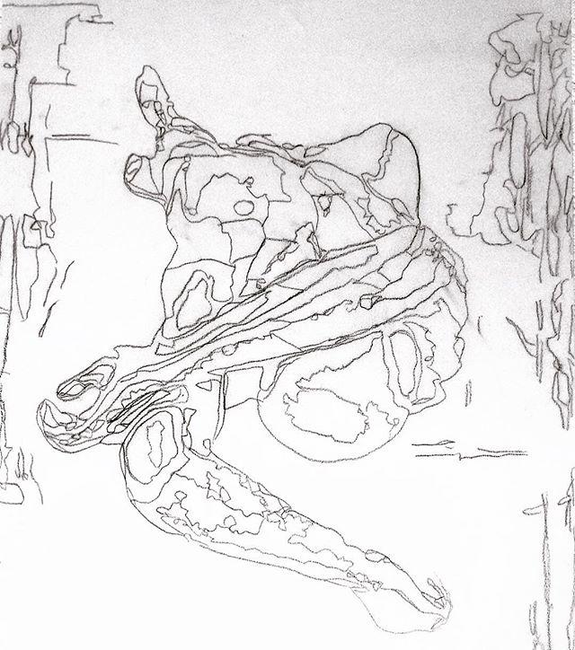 Pencil study for a new self portait. . . . . . - #lansking #RomanticRebellion #artistandmuse #artistandmusemagazine #TheNewSynthesis #artsiliconvalley #sadiecoles #gagosian #whitecube #artbasel #frieze#friezemagazine #davidzwirner #anothermagazine #dazedandconfused #moma #sfmoma #tatemodern #idmagazine #artforum #contemporaryart #contemporarypainting #contemporaryartist #contemporaryartcollector #artagent #artadvisor