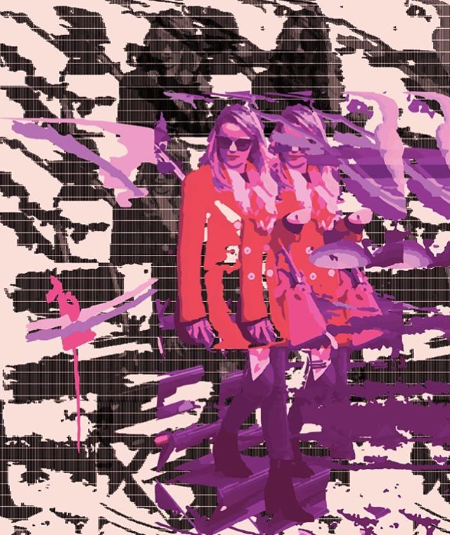 NEW PAINTING IN PROGRESS by Lans King featuring his muse, the artist @anaisdecontades. This painting combines algorithms and digital printing with manual painting and drawing techniques. . . . . . - #lansking #RomanticRebellion #artistandmuse #anaisdecontades #artistandmusemagazine #TheNewSynthesis #artsiliconvalley #sadiecoles #gagosian #whitecube #artbasel #frieze  #friezemagazine #davidzwirner #anothermagazine #dazedandconfused #moma #sfmoma #tatemodern #idmagazine #artforum #contemporaryart #contemporarypainting #contemporaryartist #contemporaryartcollector #artagent #artadvisor