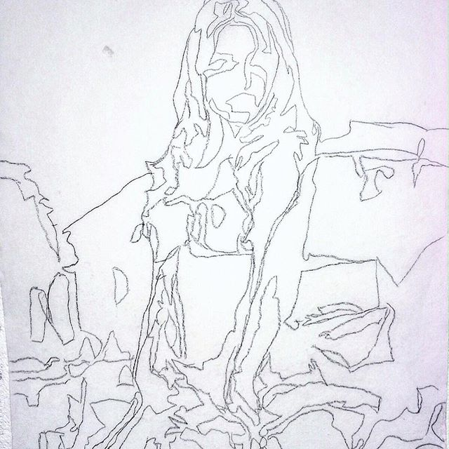 Pencil study for a work in progress... . . . . . . . . . . #lansking #thenewreal #paintingandvideo #RomanticRebellion #anothermagazine #sadiecoles #gagosian #whitecube #perrotin #frieze #newvogue #thenewyorker #newyorkmagazine #davidzwirner #dazedandconfused #moma #sfmoma #tatemodern #artforum #guggenheim #newmuseum #contemporaryart #chateaulacoste #artnet #artsy #collectorshome #contemporaryartcollector #artagent #artadvisor