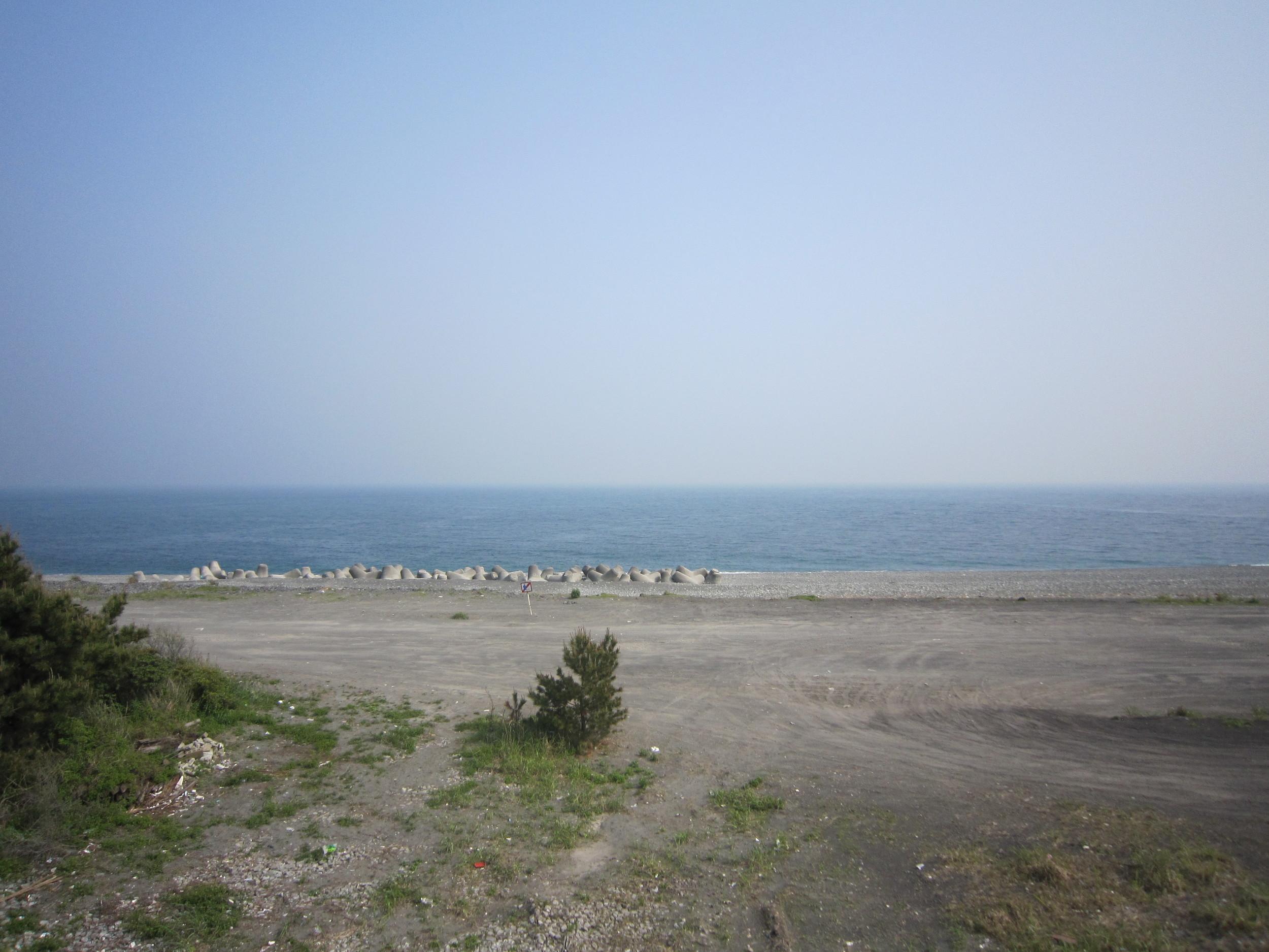 Scenic ocean view in Fuji