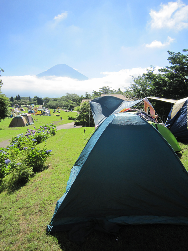 A view of Mt. Fuji from our campsite
