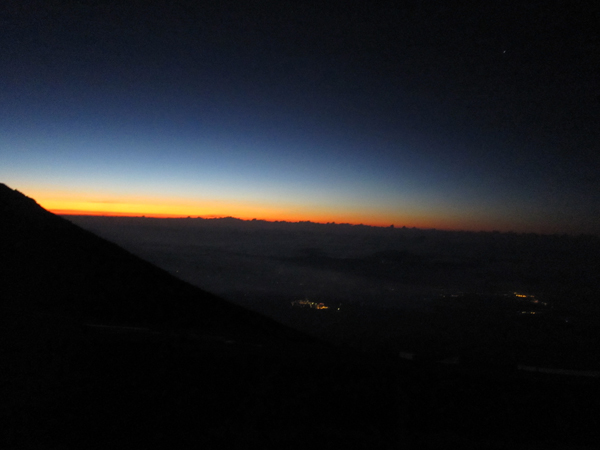I no longer care about seeing the sunrise from the summit.  In fact, I no longer care about anything.
