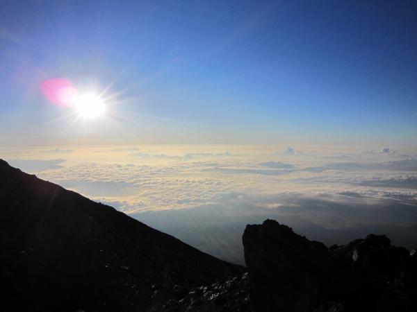 The summit of Mt. Fuji