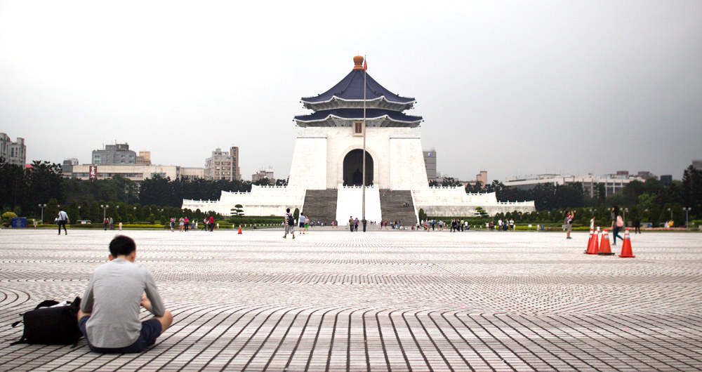 The Chiang Kai Shek Memorial is surprisingly large in person.