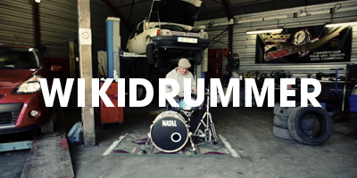 A drummer experiments with the sounds of his playing environment