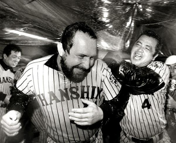 The Tigers bathed themselves in beer and sake after winning the Japan Series.