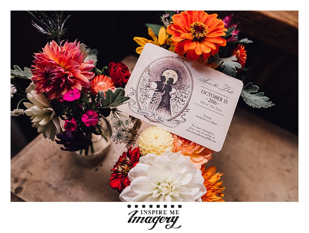 This is the photograph featured in the Autumn Wedding Guide. Don't you love the shades of orange and purple in the bouquets?