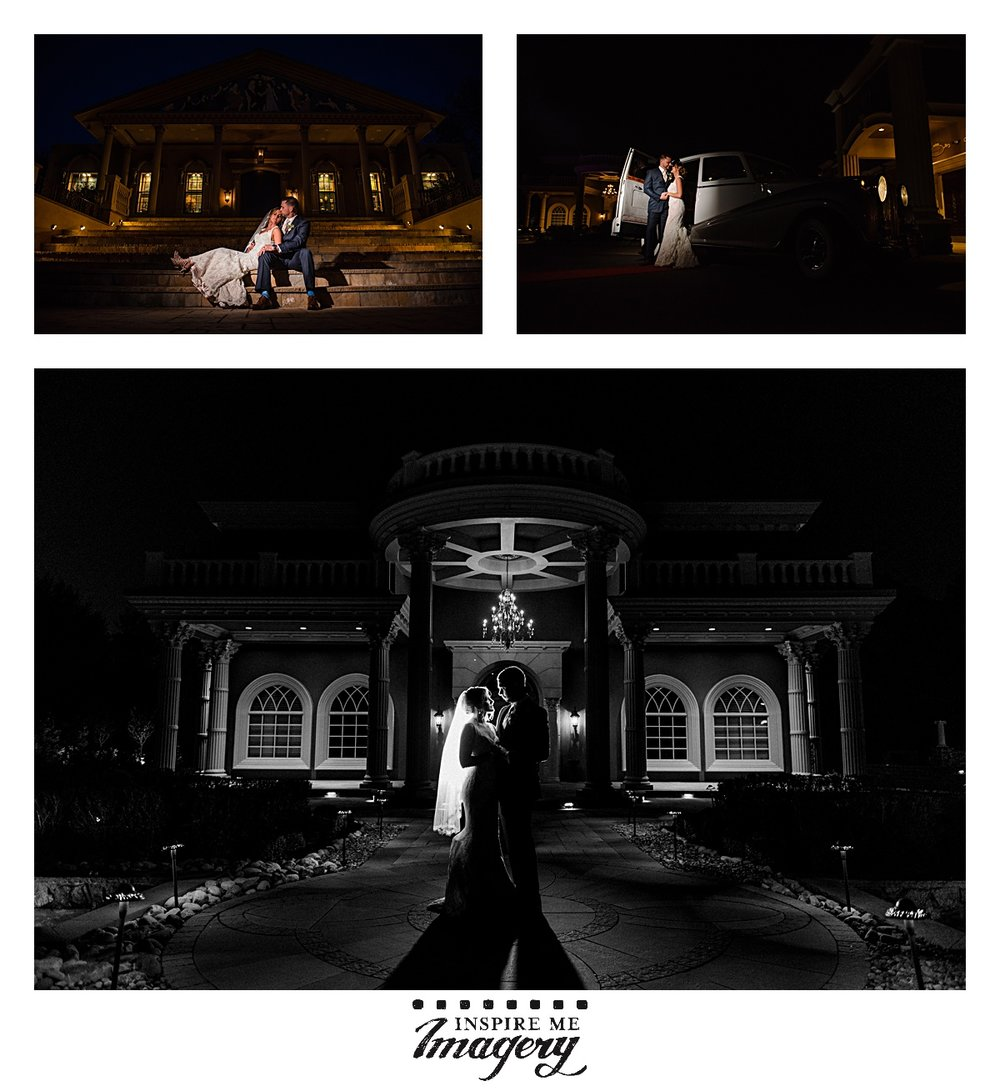 We love to sneak out for just a couple of minutes during the wedding reception to do some night portraits.