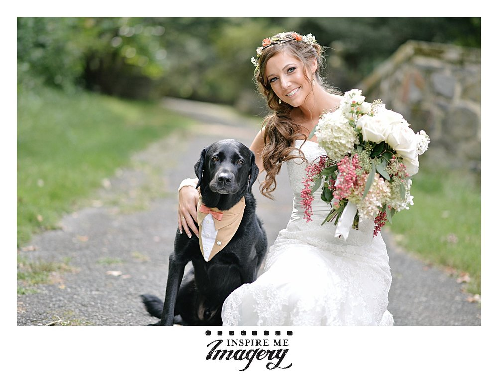 We love when pets are involved in the wedding day! They're family too, right? The dog's suit was so adorable.