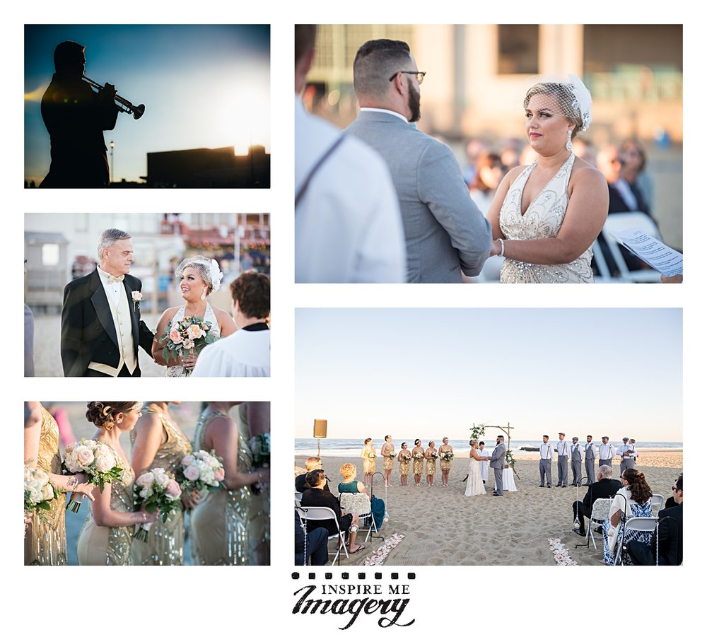 There's nothing quite like a wedding ceremony on the beach. The sound and smell of the ocean provides the most calming, beautiful environment.