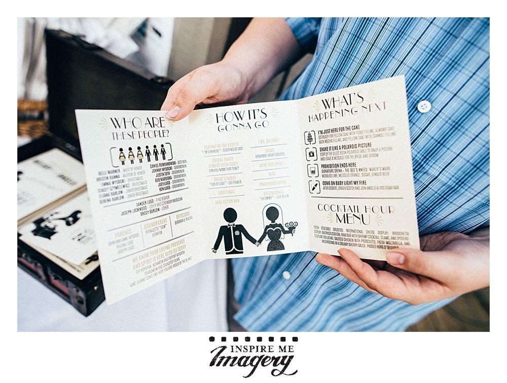 The wedding ceremony programs were so cute!