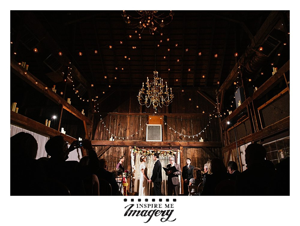 I love their incredible ceremony space. The lights and rustic wood in the barn are everything.
