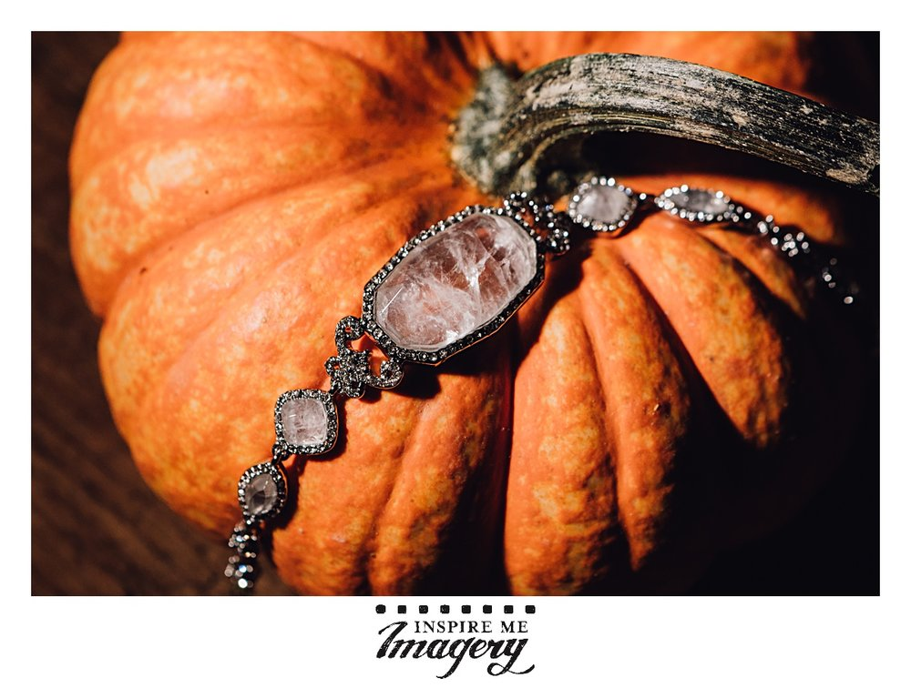 Little mini pumpkins are always fun for featuring jewelry.