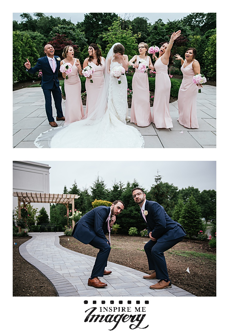 A picture is worth a thousand words, no? Love the group shot of the bride and her crew, and that the guys had fun with their photos.