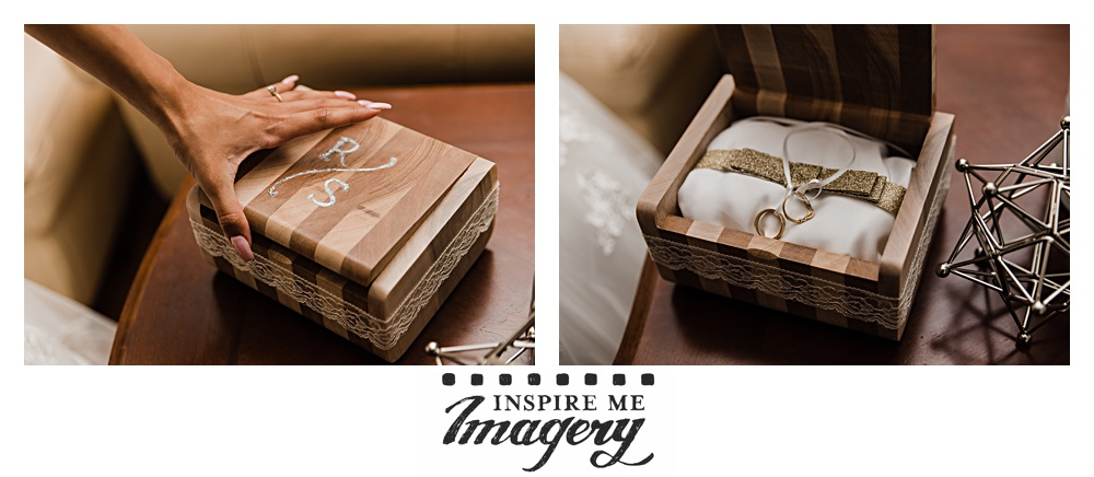 A beautiful keepsake box for the ring bearer to carry the wedding bands down the aisle.