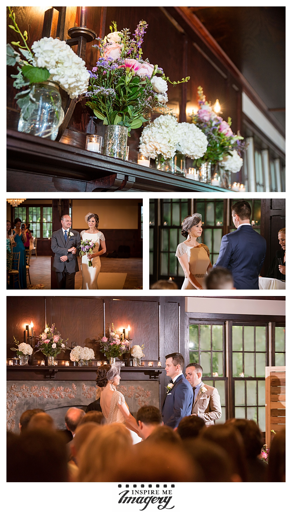 The ceremony room was beautiful, and the flowers and candle light gave the softest, romantic atmosphere to the ceremony.