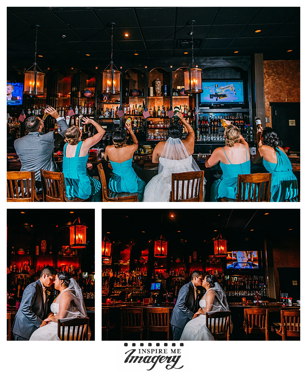 We stopped by the bar at the Copperfield Inn for some portraits. We love the red accent lights!