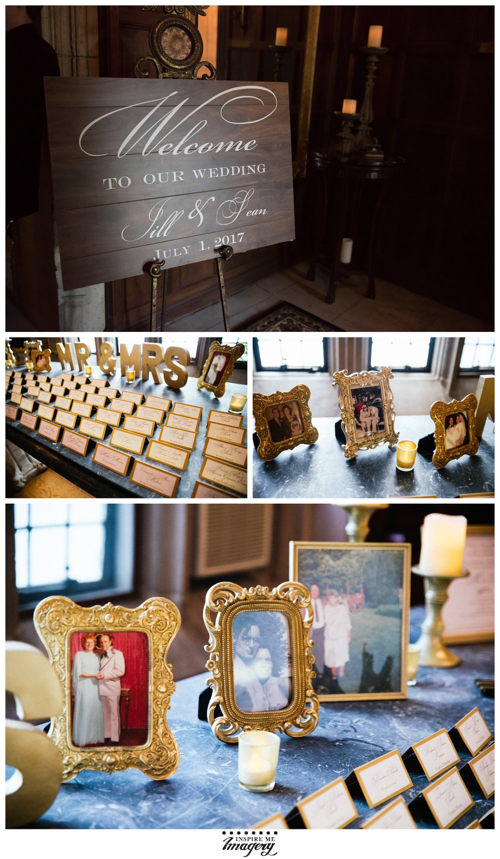 We love when couples incorporate photographs in their decor. It shows the importance of photography at times like this, and honors the people in the picture frames so beautifully.