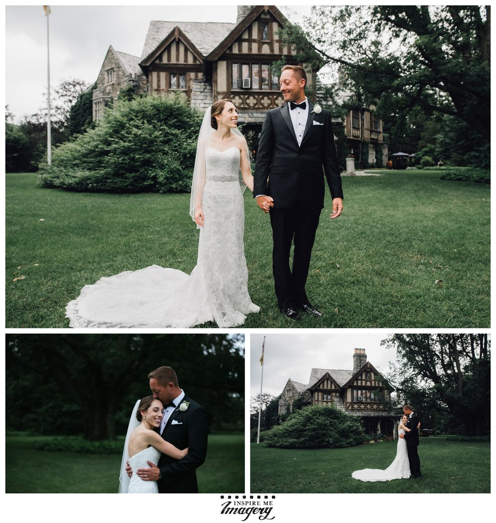 We had to take just a few more portraits after the ceremony, once the risk of guests seeing the bride too early had passed. Skylands Manor makes one heck of a background, no?