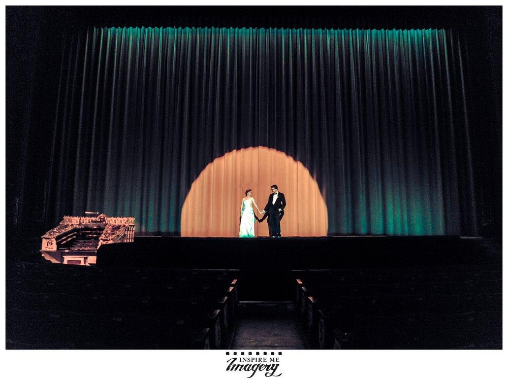 Wedding photos taken at  The Landmark Loew's Jersey Theatre, 54 Journal Square Plaza, Jersey City, NJ 07306