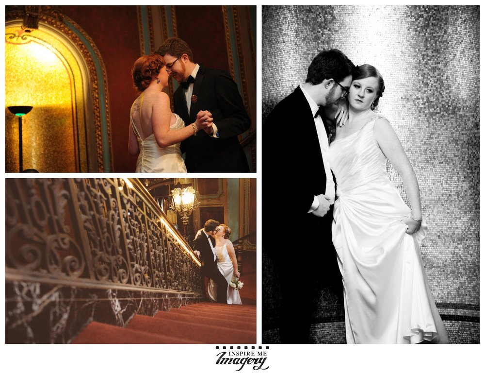 Wedding photos taken at  The Landmark Loew's Jersey Theatre, 54 Journal Square Plaza, Jersey City, NJ 07306