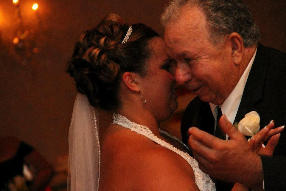 April Meyers - Our father daughter dance. My dad had when much later in life, so from the time I could understand death he would tell me he wouldn't be alive to see me get married. But he did! (And he's still here enjoying his grandkids too)