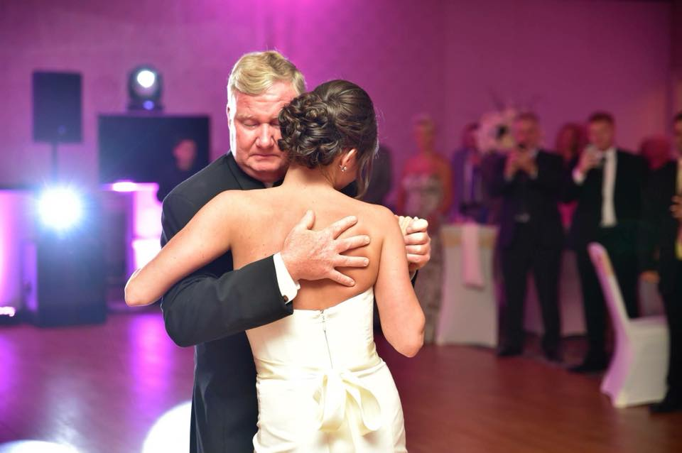 Jenny Halat -My Pops had it together pretty much all day, but the second we started walking down the aisle, he became a blubbering mess! I adore this photo because it shows just how much he loves me without saying anything.