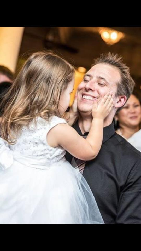Rae Drews - Not me, but my husband and our daughter. She was flower girl for my brothers wedding. Her in a little white dress dancing with her Daddy, at age 3, with such joy on their faces. A precursor to her wedding day many many years from now.