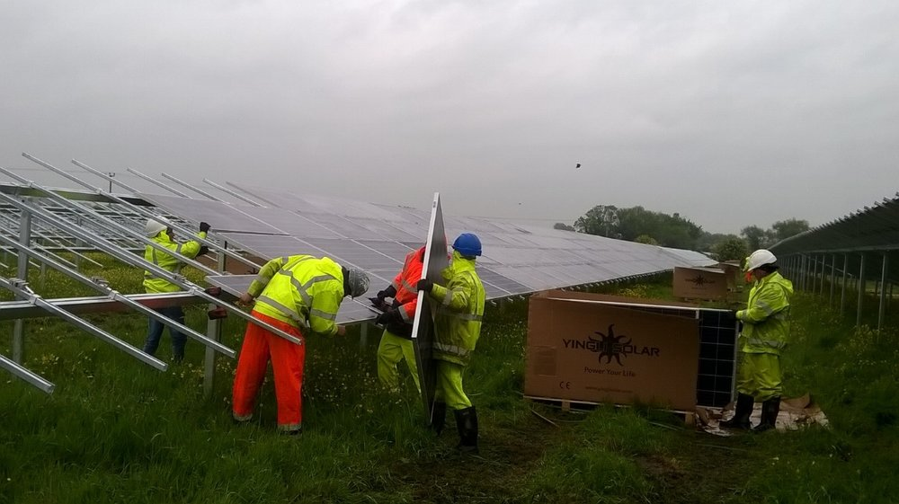 Under construction: Common Farm Solar funded by UK's first council solar bond
