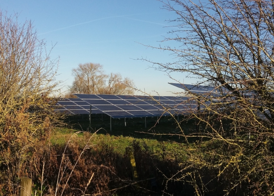 Common Farm solar park near Swindon
