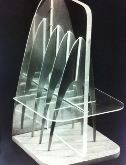 Photograph of three dimensional form in plywood, Perspex and aluminium designed by Roy Appleby, 1955-1960, SA/AT/26/20/8