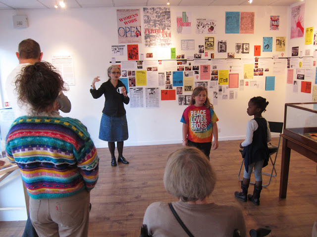 Francoise Dupre giving a curator's talk, 19 November 2011